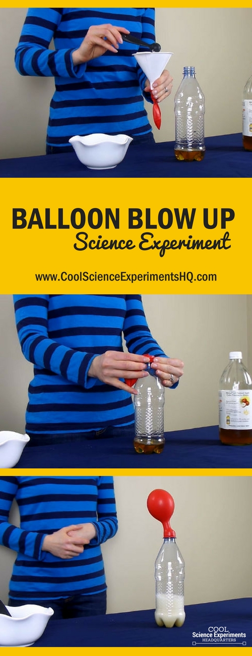 Balloon Blow-up Science Experiment Steps