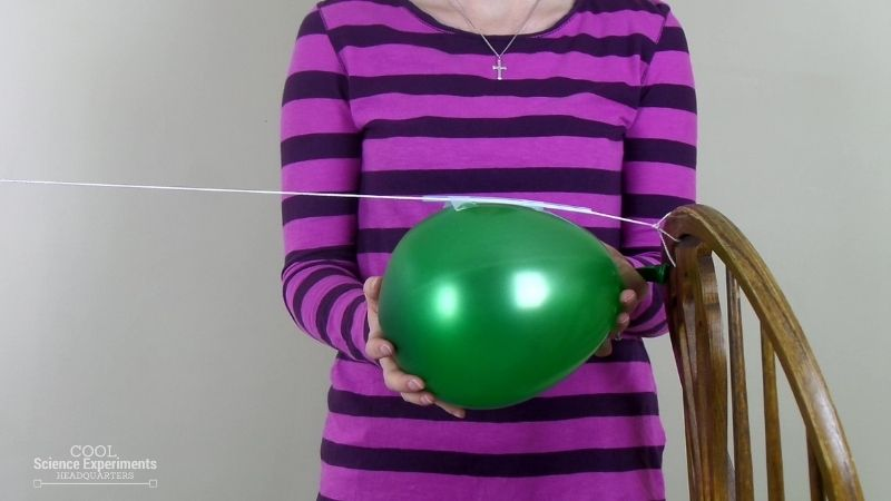 Balloon Rocket Science Experiment Step (8)