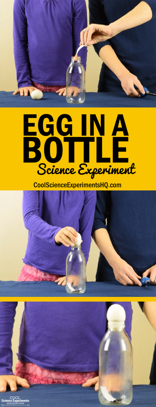 Egg in a Bottle Experiment Steps
