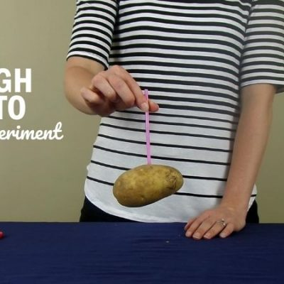Straw Through a Potato