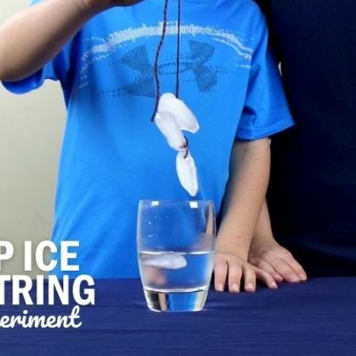 How to Pick Up Ice with a String Science Experiment