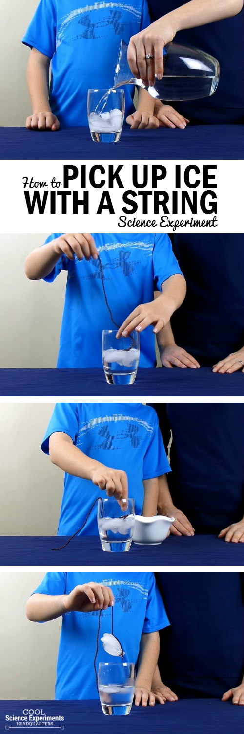 Pick Up Ice with String Experiment Steps