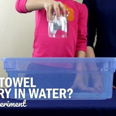 Keep a Paper Towel Dry Under Water Science Experiment
