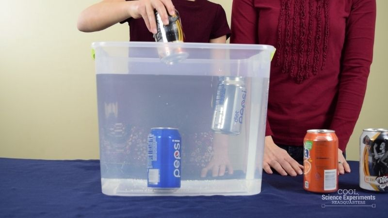 Floating & Sinking Pop Can Experiment