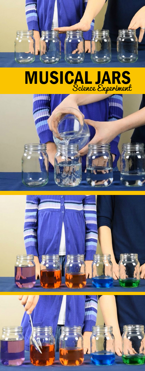 Musical Jars Science Experiment - Steps