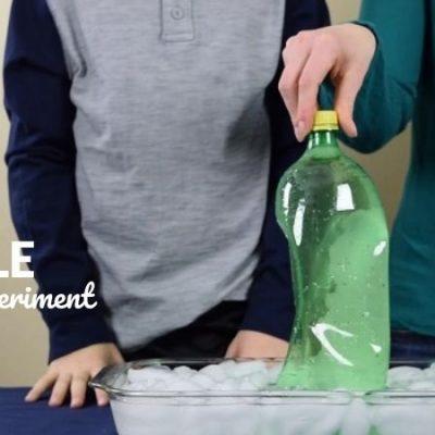 Crush a Plastic Bottle Science Experiment