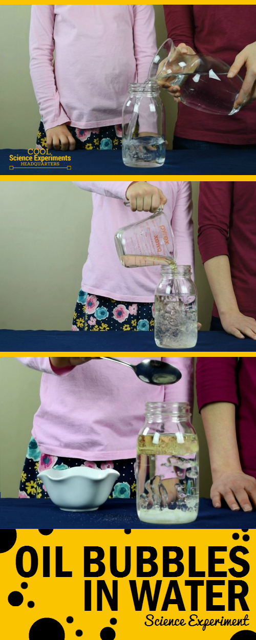 Oil Bubbles in Water Science Experiment - Steps