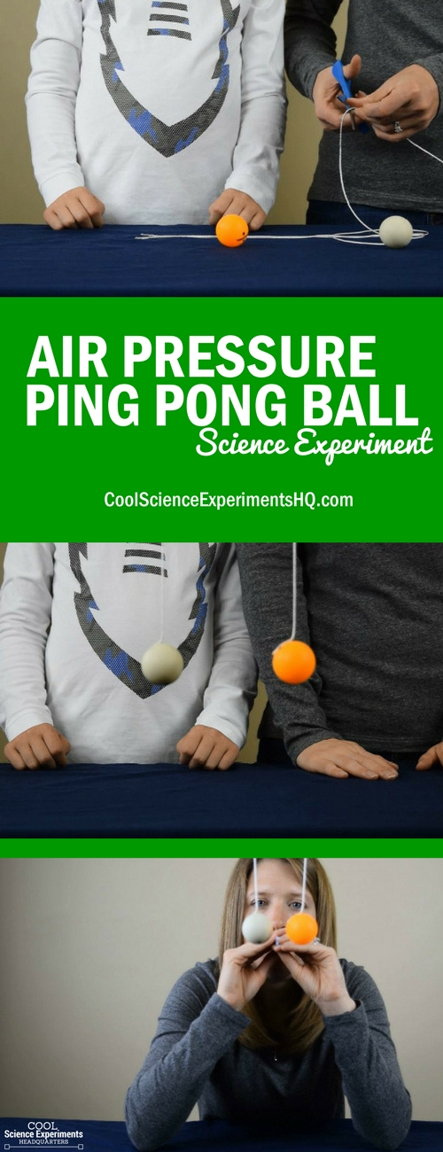 Air Pressure Ping Pong Science Experiment Steps