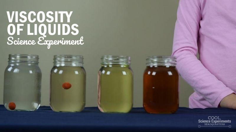 Viscosity of Liquids Science Experiment